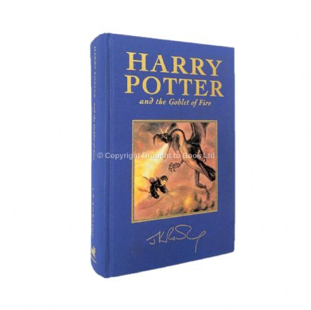 Harry Potter and the Goblet of Fire Signed by J.K. Rowling First Deluxe Edition Bloomsbury 2000